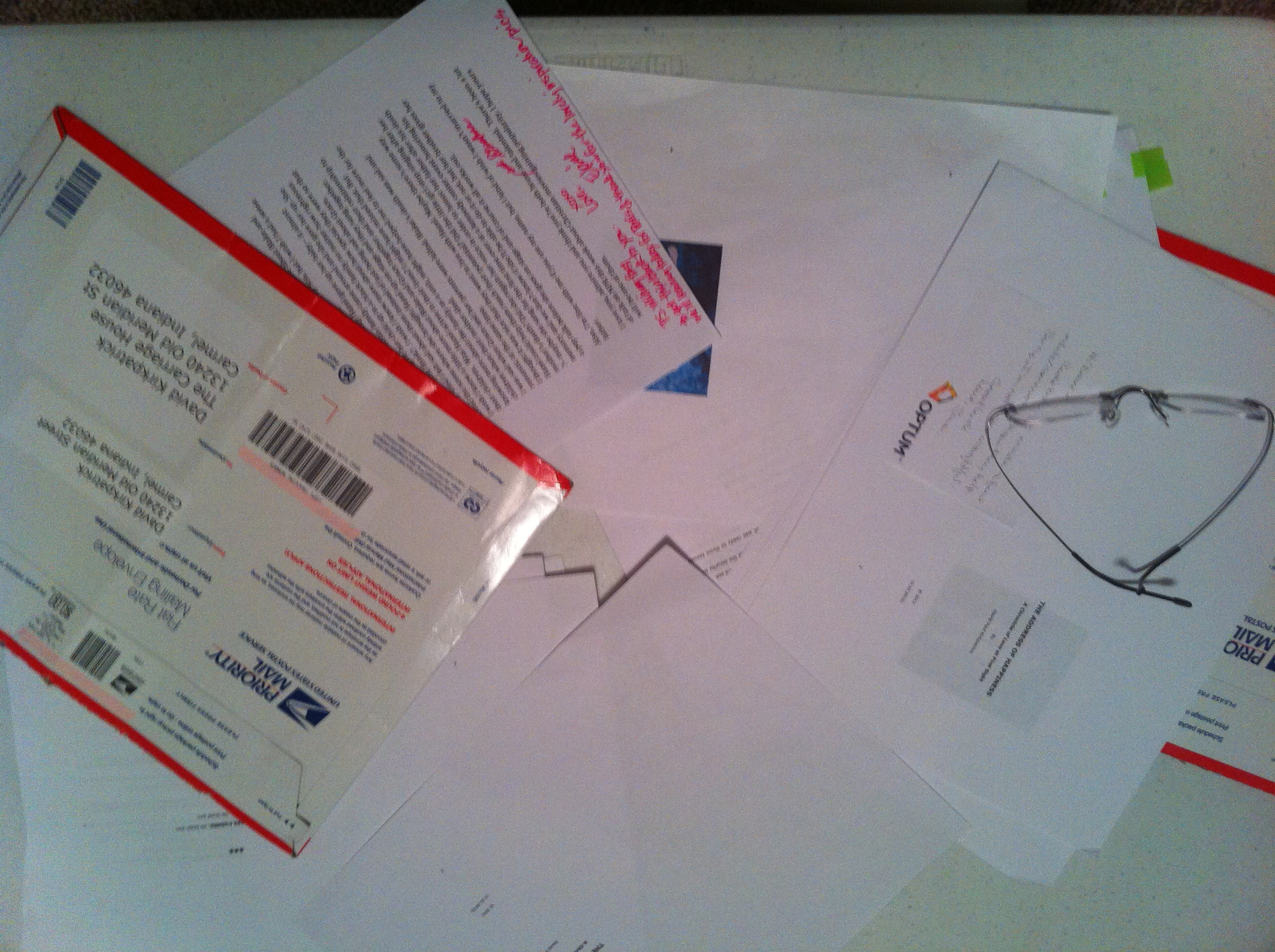 Hard Copy Comments with Stamped and Addressed Envelopes