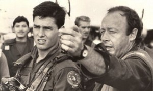 Tom Cruise and Tony Scott in Miramar