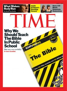 Time: Urging  Biblical Literacy