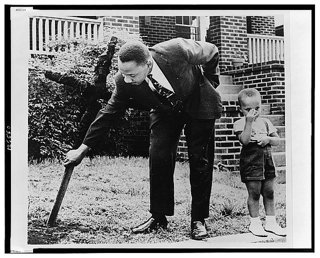 MLK Jr and son