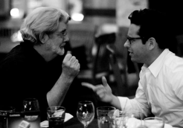 George Lucas and J.J. Abrams in January 2013