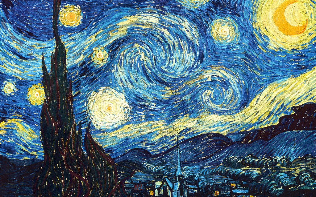 The Starry Night, 1890, by Vincent van Gogh