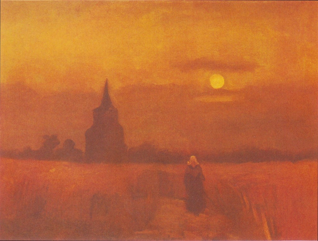 Old Tower In the Fields by Vincent van Gogh, 1884