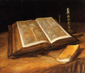 """Still Life With Bible"" by Vincent van Gogh (1885)"