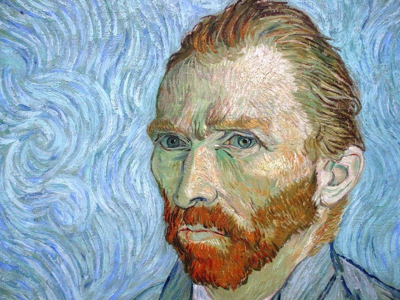 One of 30 self portraits Van Gogh Produced within His Lifetime