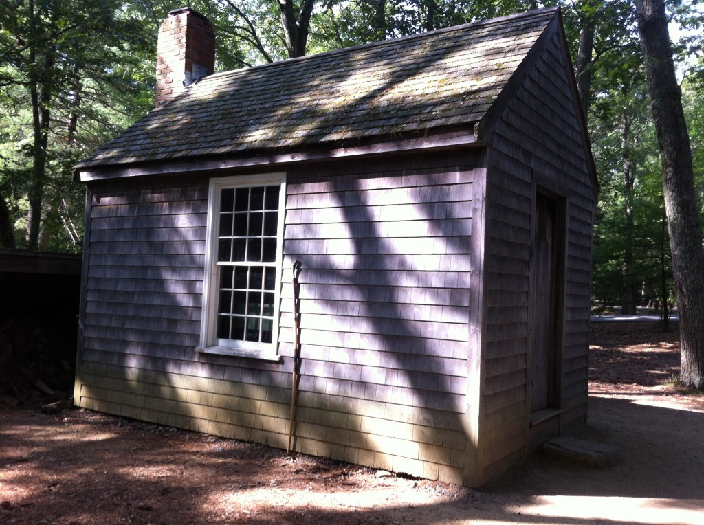 Thoreau's Famous Little House at Walden Pond, Concord Massachusetts - Reproduction