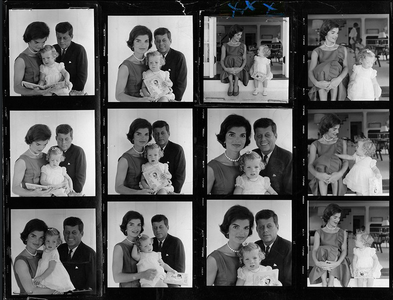First contact sheet from a Jacques Lowe photo session