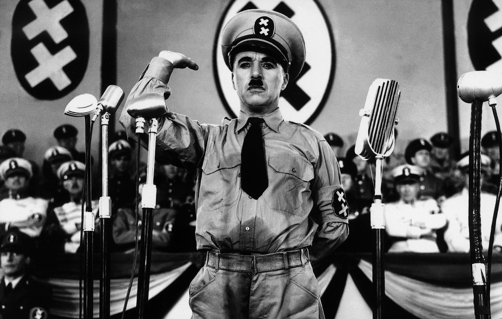 Charlie Chaplin in the satirical spook, The Great Dictator