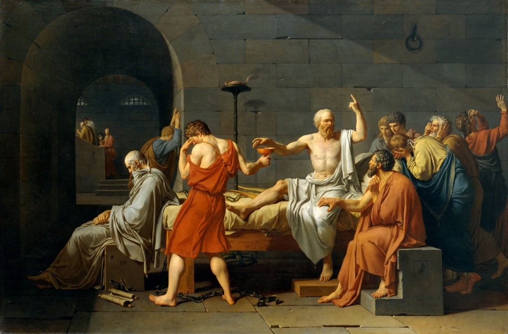 Socrates is forced to drink Hemlock - Virtue is Sufficient to Happiness