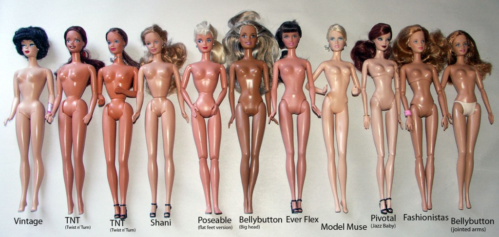 The Most Common Barbie Body Types in the Barbie Parade