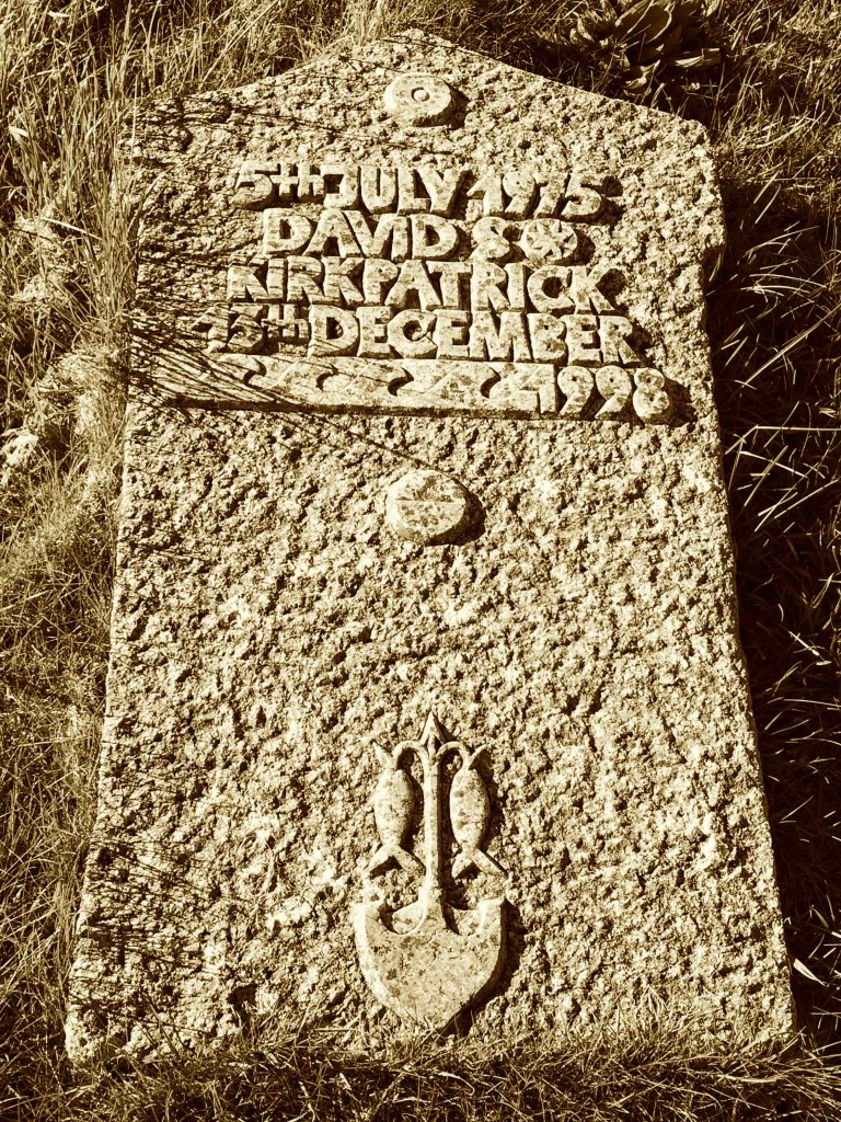 David Kirkpatrick at the Cemetery in Iona